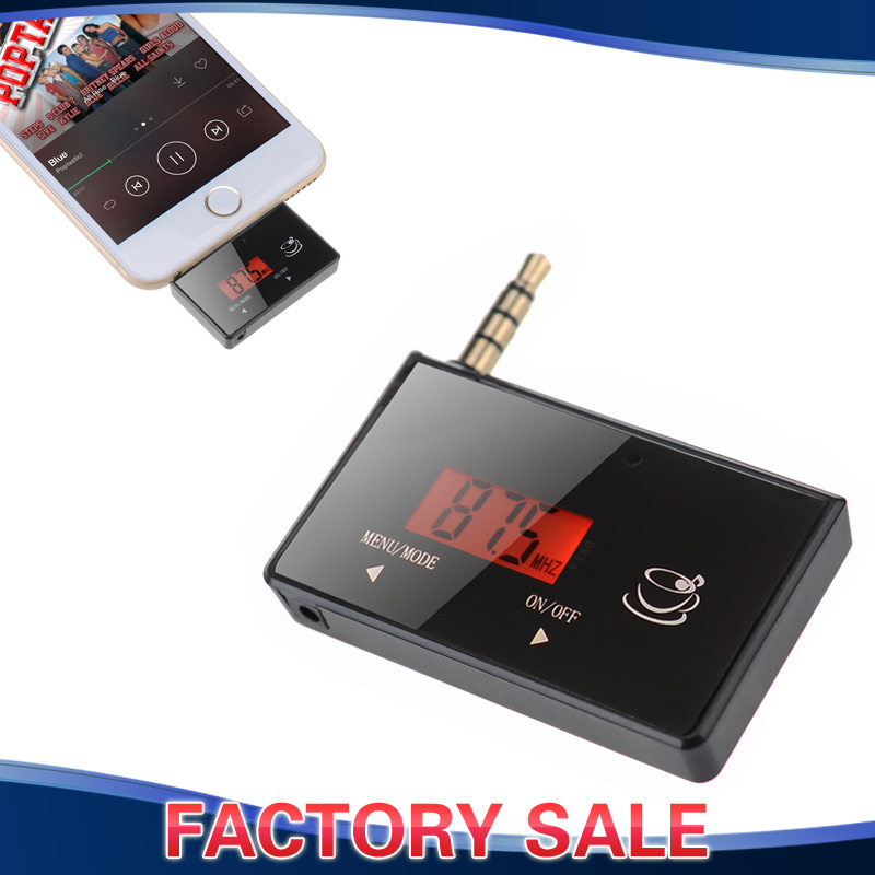 wireless in car fm transmitter radio adapter hands free for ipod ipad i. Black Bedroom Furniture Sets. Home Design Ideas