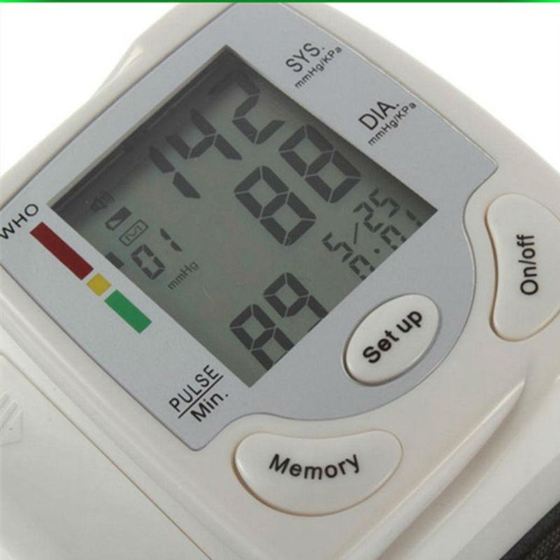 Automatic Digital Wrist Blood Pressure Monitor Heart Beat Meter Sphygmomanometer Prevent Hypertension tonometer tansiyon aleti(China (Mainland))