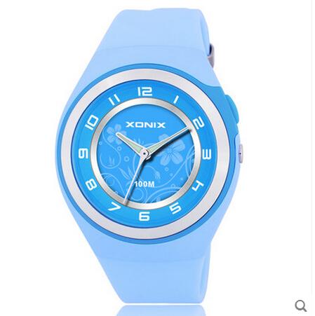 2015 Xonix Women's Sports Watches Quartz Waterproof 100m Led Lighting Luminous Silicone Strap Fashion Watch - Carnival Wristwatch Online Shop store
