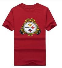 New 2017 Pittsburgh Gloves Logo Shirt mens 100% cotton Steelers T-shirt Tshirt Tshirts Tees Jersey T-Shirt Mens T Shirts Fashio(China (Mainland))