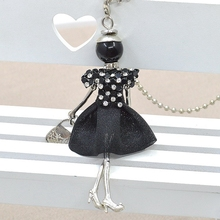 2015 New Arrival Doll Pendants Cute Women Necklace Female Jewelry top selling charms free shipping accessories
