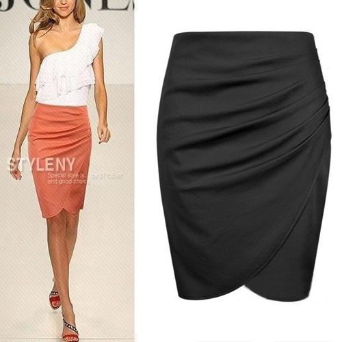 2016 новый бренд юбка женщины высокой талией карандаш бинты женщины юбки черный короткий ...