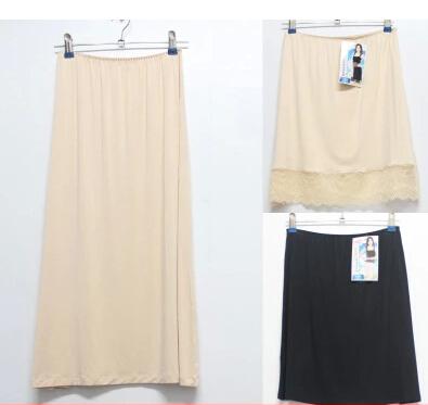 Basic modal female half-length skirt lace slip innerwear basic female short skirt women half slip(China (Mainland))
