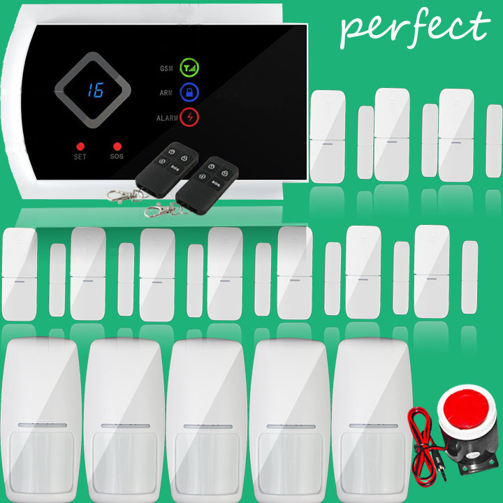 Voice Prompt ~ Wireless Home Intelligent Burglar GSM Alarm System Security Home Alarm 850/900/1800/1900Mhz support app function<br><br>Aliexpress