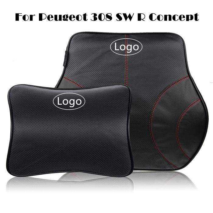 Leather Car Headrest Car Back Cushion for Peugeot 308 SW R Neck Support Pillow Car Lumbar Back Support Pillow Memory Cotton<br><br>Aliexpress