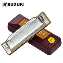Suzuki Folkmaster 1072-C Standard Beginner Diatonic Blues Harmonica Gaita 10 Holes Key of C Musical Instrument(China (Mainland))