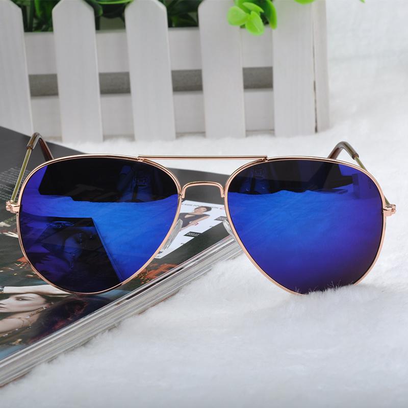 Goggle Aviator Sunglasses Classic Vintage Sun Glasses Metal Frame Eyeglasses Eyewear Bat Mirror UV Protection Multi ColorFMHM041(China (Mainland))