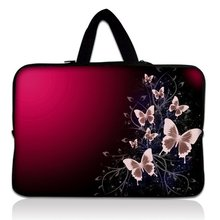 "Buy 14"" 14.1"" Pink Butterfly Neoprene Soft Laptop Netbook Sleeve Bag Case Cover Pouch+Hide Handle HP Dell Lenovo IBM for $11.99 in AliExpress store"