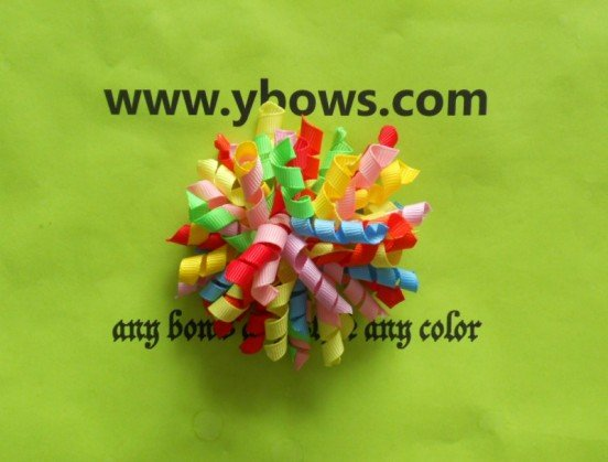 colourful korker hair bow,100% handmade,with high quality materials(China (Mainland))