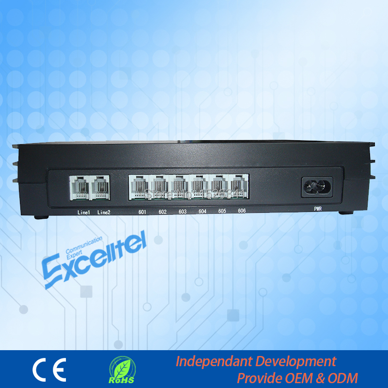 PABX System/ Mini phone system /Office PBX/ MD206/ 2 PSTN line 6 extension(China (Mainland))