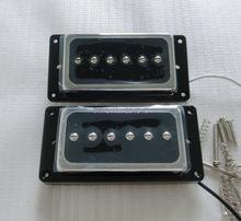 Buy Sell Free N&B 1set alnico lp guitar pickup P90 humbucker guitar pickup black rings for $18.80 in AliExpress store