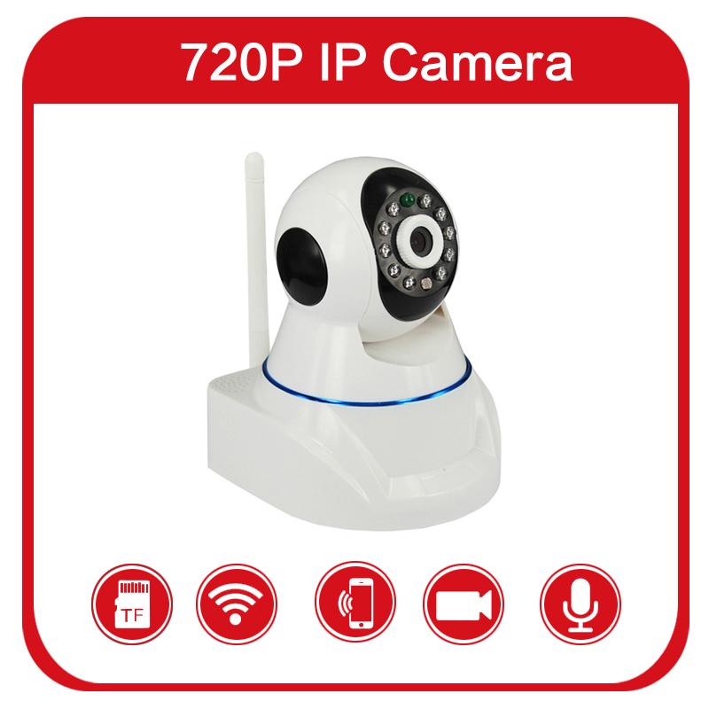 HD 1280*720P H.264 1.0MP robot mini wireless ip camera wifi cctv security support TF/Micro sd card onvif p2p Indoor IR night(China (Mainland))
