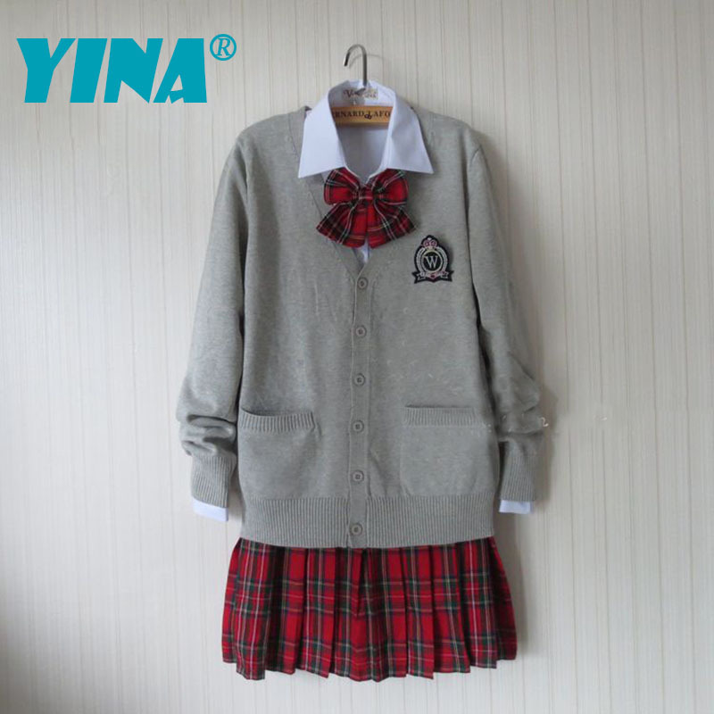 2015 Sale Mall Fresh Jk Uniform Japanese Cardigan Sweater Jacket Uniforms Students Class Service College Girl Suit England - China YINA school uniform Co., Ltd. store