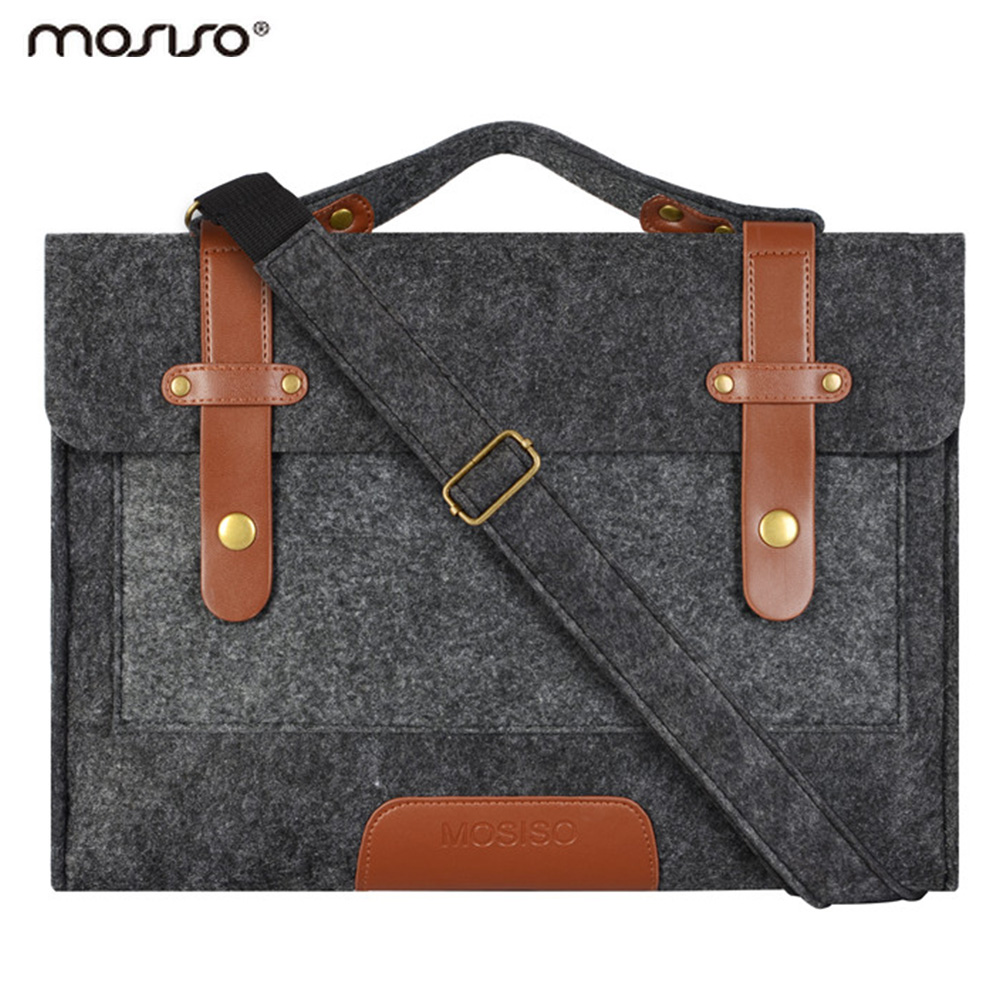 Mosiso Felt Laptop Shoulder Bag 11.6 13.3 15.6 inch Sleeve Cover Netbook Handbag Case for MacBook Air Pro 11 12 13 15 Asus HP(China (Mainland))