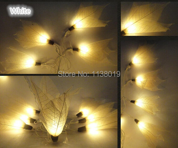 Battery operated leaf skeleton flowers led string lights, romantic valentine's gift, home, party, bedroom,patio,wedding decor(China (Mainland))