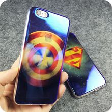 Superman Captian America Blue-Ray Phone Cover FOR iphone Soft TPU laser mobile phone Case FOR IPHONE 6 6S 6PLUS 6S PLUS