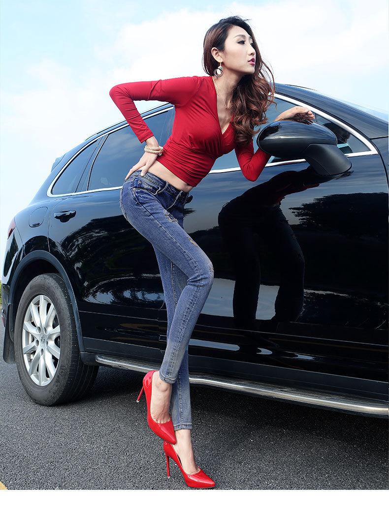 Скидки на Джинсы Девушку 2016 Летняя Мода Постепенное Изменение Патч Личность лодыжки длина гибкой Связаны Ноги Брюки Весной И Летом 938