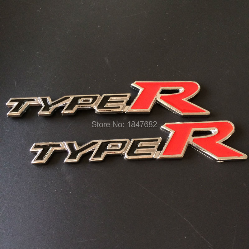 High quality 10pcs metal TYPE R car loaded for HONDA TYPER TYPE R RACING Chrome Trunk Badge Emblem Car Sticker<br><br>Aliexpress