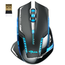 Sannysis Fashion E-3lue 6D 2.4G Wireless Mouse 6 Buttons 2500 DPI Slim Mini Cordless Optical Mice For Computer Laptop (China (Mainland))