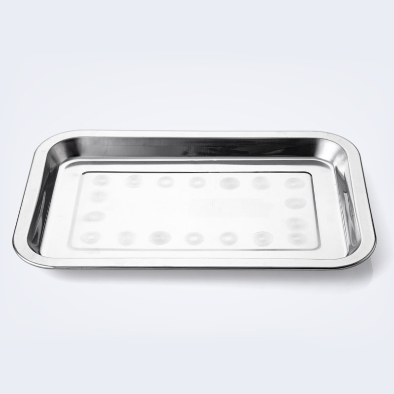 Stainless steel rectangular grill plate food dish, barbecue tools food dispensing table thickened food dish(China (Mainland))