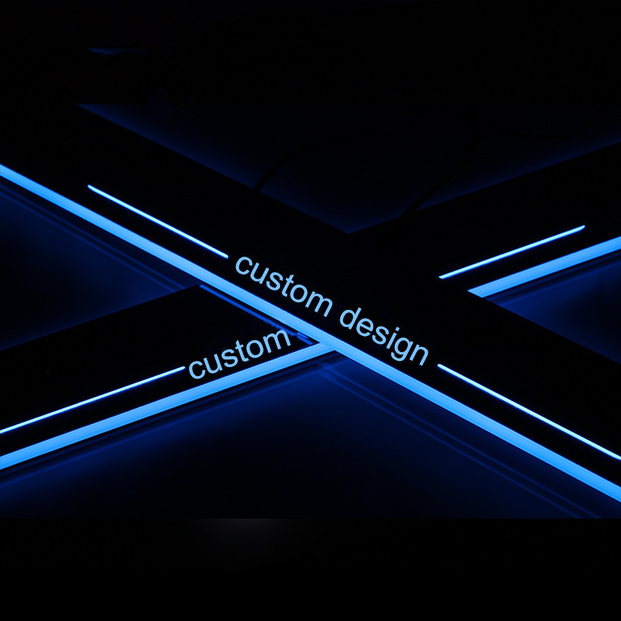 Custom LED Light Illuminated Door Sill Scuff Plate Guard Cover  car-styling For SEAT LEON CUPRA 2010 2011 2012 2013 2014 2015