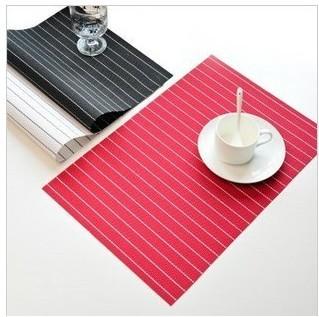 "6pcs/lot 12""x18"" 2013 Hot Pvc placemat dining table mat heat insulation pad plastic placemat bowl pad coasters slip-resistant(China (Mainland))"