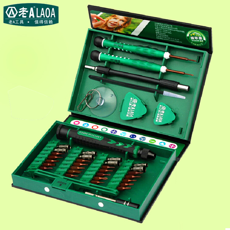 LAOA Brand 38 in 1 Screwdriver Set Precision Repair Tools Kit S2 Alloy Steel Material Tool for Cell Phone iPhone for Notebook(China (Mainland))