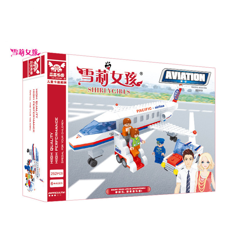 Pacific Aviation Air Plane Passenger Minifigures Airport Building Blocks Compatible With LEGO Educational Bricks Toys For Kids(China (Mainland))