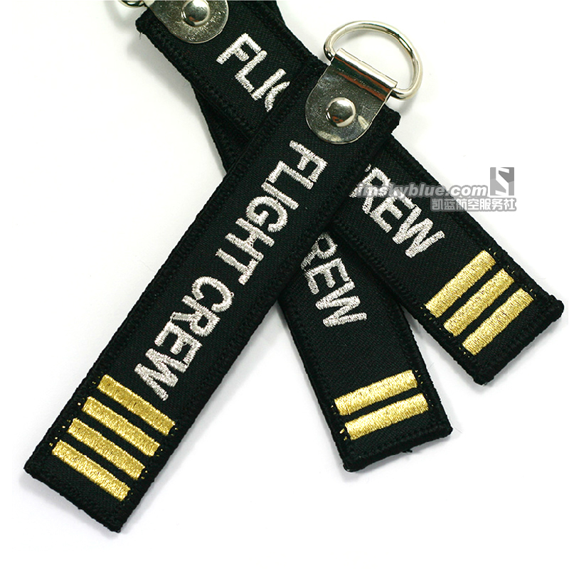 """Epaulette Key Chain """" Remove Before flight"""" """"Flight Crew"""" Key Ring for Aviation Lover Airlines Workers Airman(China (Mainland))"""
