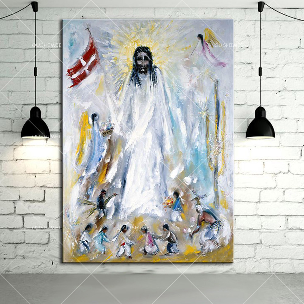 Top Manufacturer Wholesale Cheap Price Modern Pop Oil Painting On Canvas Handmade Jesus Portrait Oil Painting For Wall Art(China (Mainland))