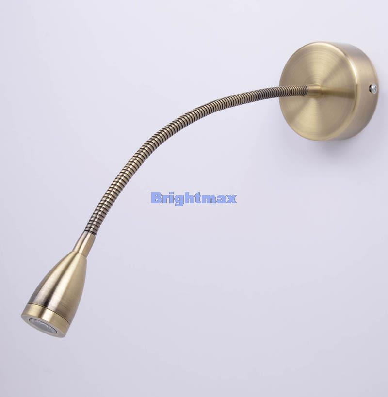 Wall Spot Lamps : Aliexpress.com : Buy S029A Antique brass Edison 3W LED Bedside lamp LED reading light LED wall ...