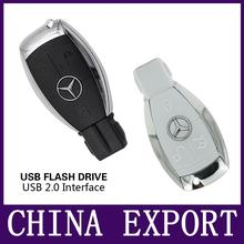 new hot sale usb flash drive Mercedes-Benz pen drive 4gb 8gb 16gb 32gb 64gb pendrive car keys U disk USB 2.0 USB storage drive(China (Mainland))