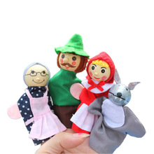 Finger puppet children 4 Pcs/lot cartoon characters toy Puppet Cloth Doll Baby Educational Hand Toy Story Kid(China (Mainland))