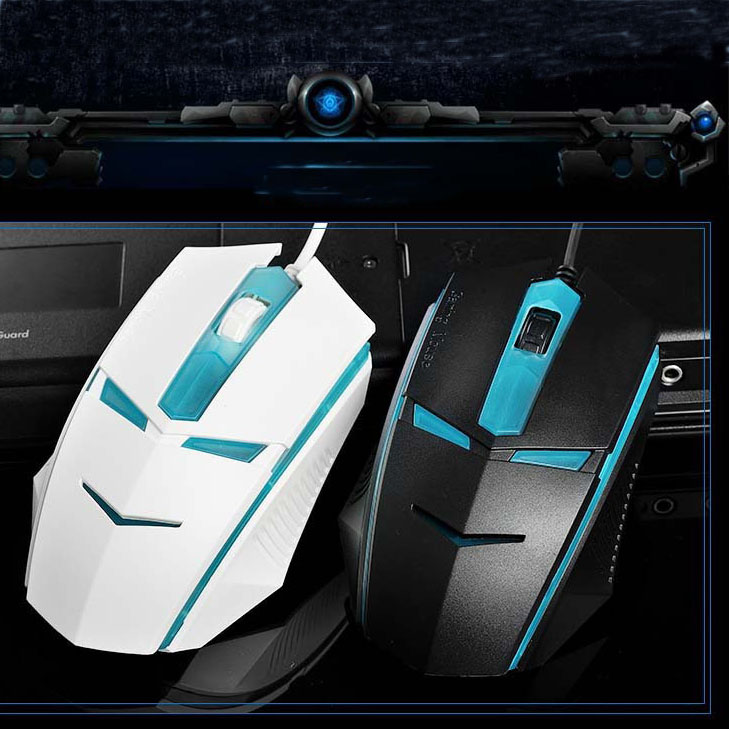 High quality retail box White black Scroll Wheel wired mouse optical mouse USB plug mouse for PC Laptop free shipping(China (Mainland))