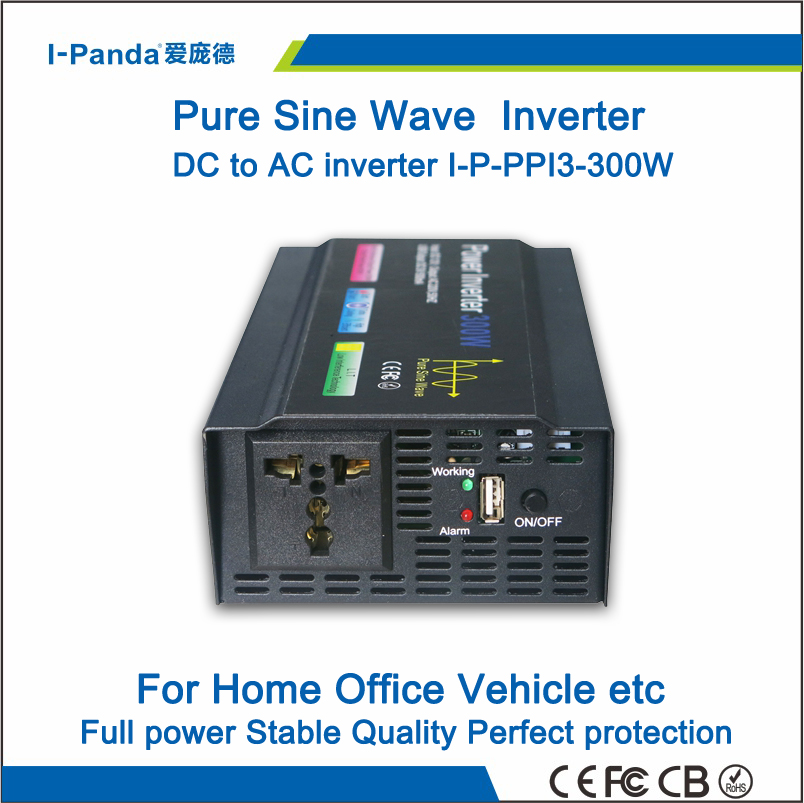 300W Pure Sine Wave Inverter 12VDC 110VAC 12V 110V, 220V CE ROHS,Solar Inverter,DC AC Power inverter,Car Inverter Inversor