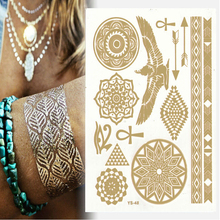LOSS ON SELL!! Only 20 Pieces!!Limited Buying! Place Order Right Now to Get Our Fashionable Flash Tattoo Gold Tattoo Flash Tatoo