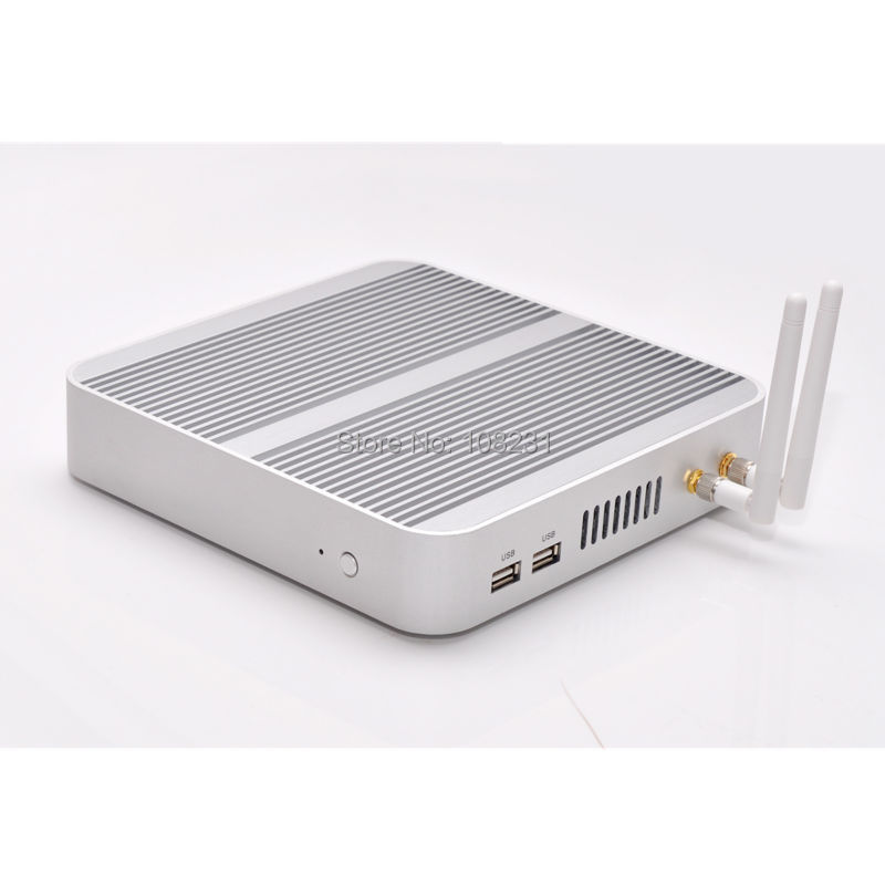 DC 12V Mini PC Win 7 / 8/ 10/ Linux,QOTOM Fanless mini PC X86 with core i5-4200u processor onboard, htpc mini pc HD(China (Mainland))