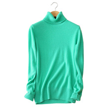 special color 100% cashmere sweaters winter and autumn pullovers turn-down collar long sleeve women clothings