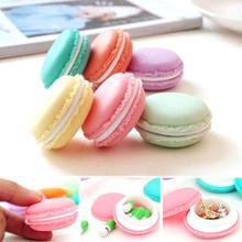 Selljimshop 6 PCS Portable en plastique Mini Macarons boîte écouteurs SD carte cas sac de rangement petits bijoux étui de transport organisateur(China (Mainland))