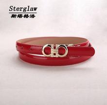 summer style Casual women's brand broekriem  Female leather belt 2016 PU red belts for women waist belts luxury Sterglaw C001(China (Mainland))
