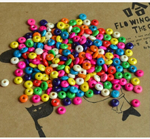 100pcs/lot Fashion DIY Jewelry Accessories Beads Mixed Color 3*6mm Wood Abacus Bead