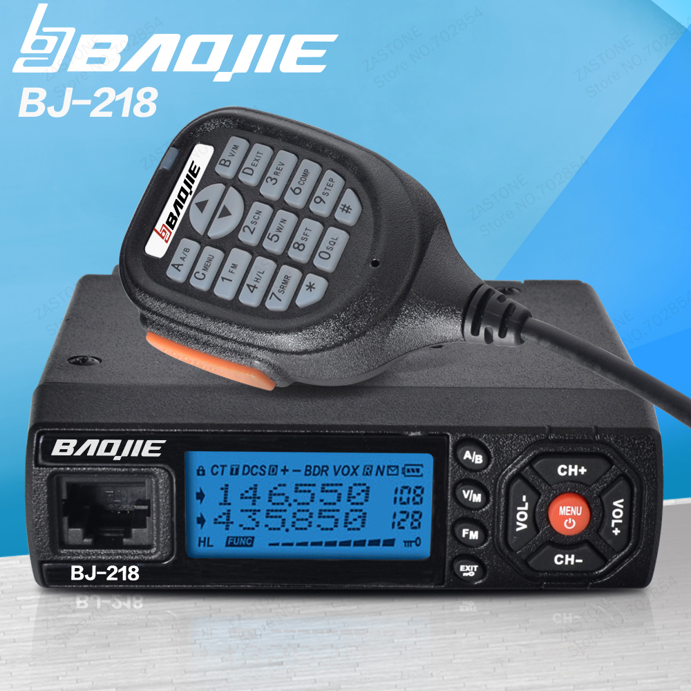 BJ-218 25W Output Power Mini Mobile Radio VHF UHF 136-174 400-470MHz Ham Radio Car Walkie Talkie For Car Bus Taxi(China (Mainland))