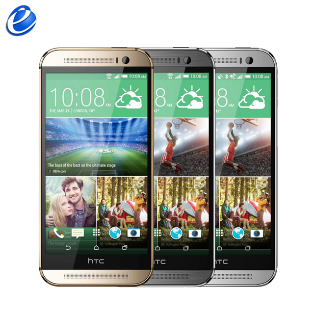 """Разблокирована Оригинальный HTC One M8 GSM 3 Г 4 Г 3 Камеры Android 5.0 6.0 Quad core 2 ГБ 32 ГБ Мобильного Телефона 5.0 """"4MP восстановленное сотовый телефон"""