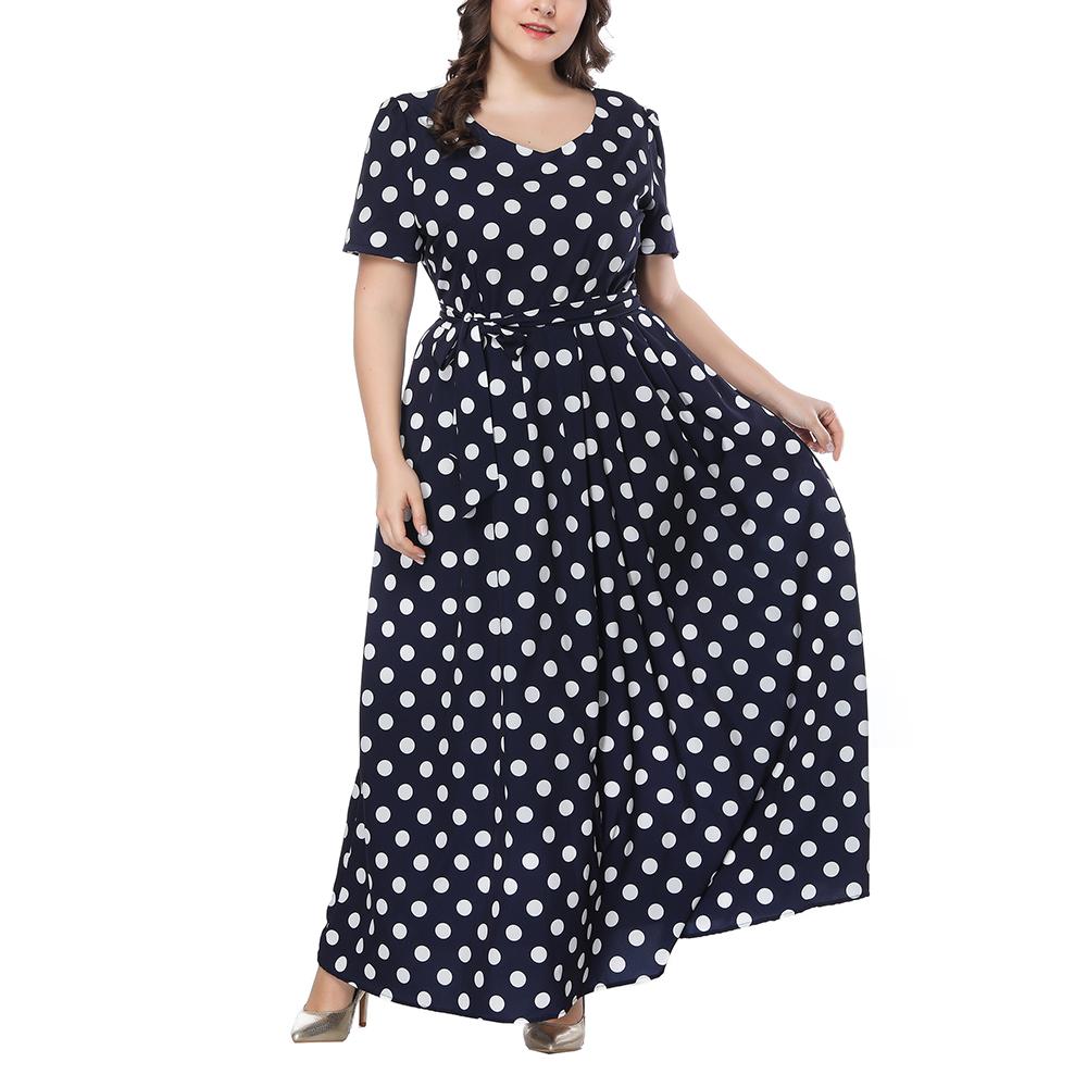 8480e719b54 Detail Feedback Questions about XL 7XL Plus Size Polka Dot Dress ...