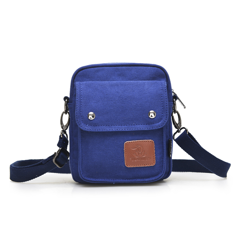 2015 new fashion casual Men canvas mini bag leisure lovers small Inclined hot selling shoulder bags(China (Mainland))