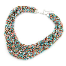 Fashion Short Temperament Of Bohemia Bead Necklace  Sweater Chain  Fashion Jewelry Wholesale(China (Mainland))