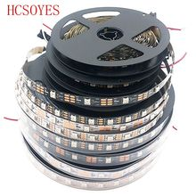 WS2812B DC 5V 1m/4m/5m/roll 2811ic Built-in individually addressable smart RGB led strip 30/60/144 leds/m , IP30/IP65/IP67(China (Mainland))