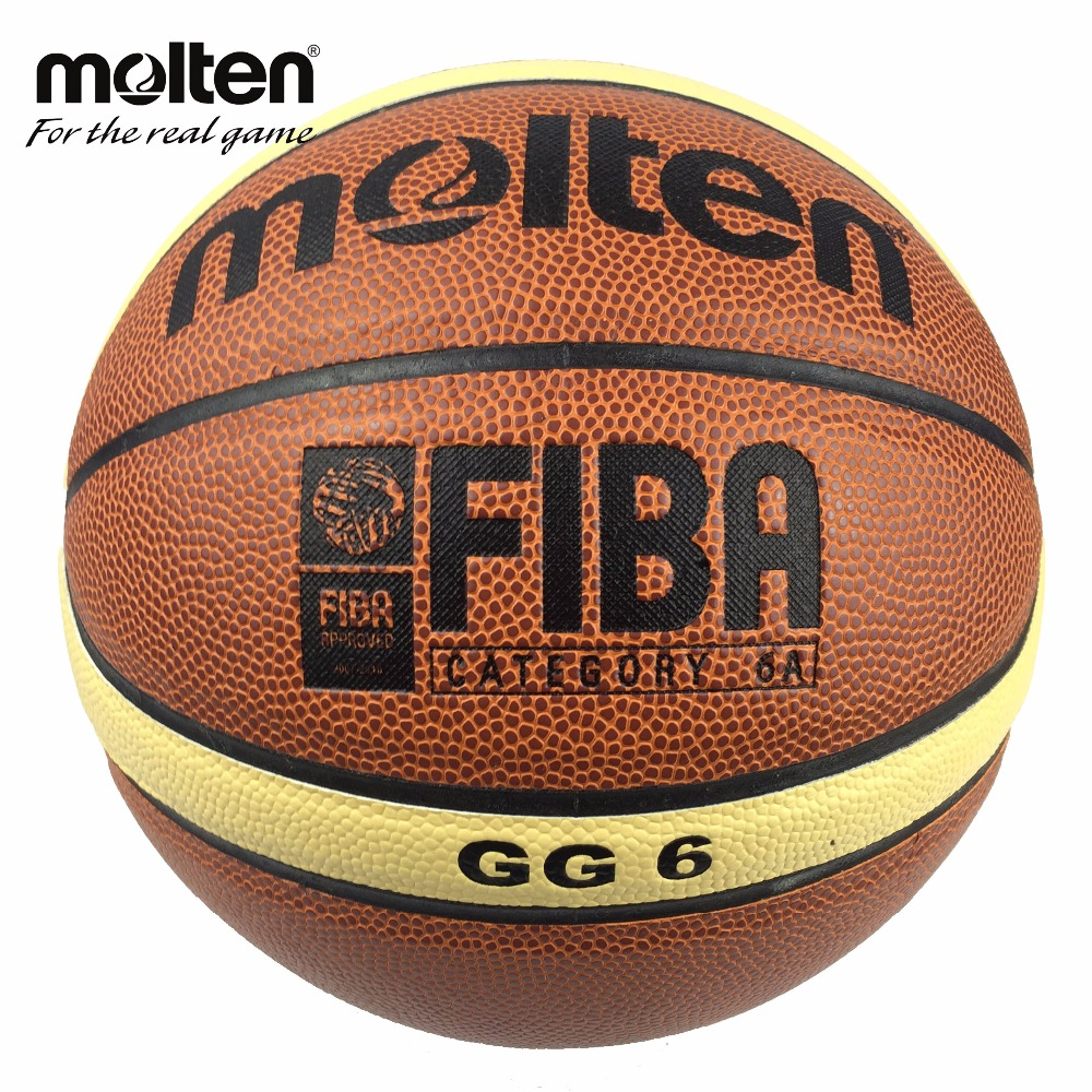 Brand Basket Genuine Molten GG6 Basketball Ball PU Materia Leather Official Size 6 women Basketball Free Net Bag+ Needle(China (Mainland))