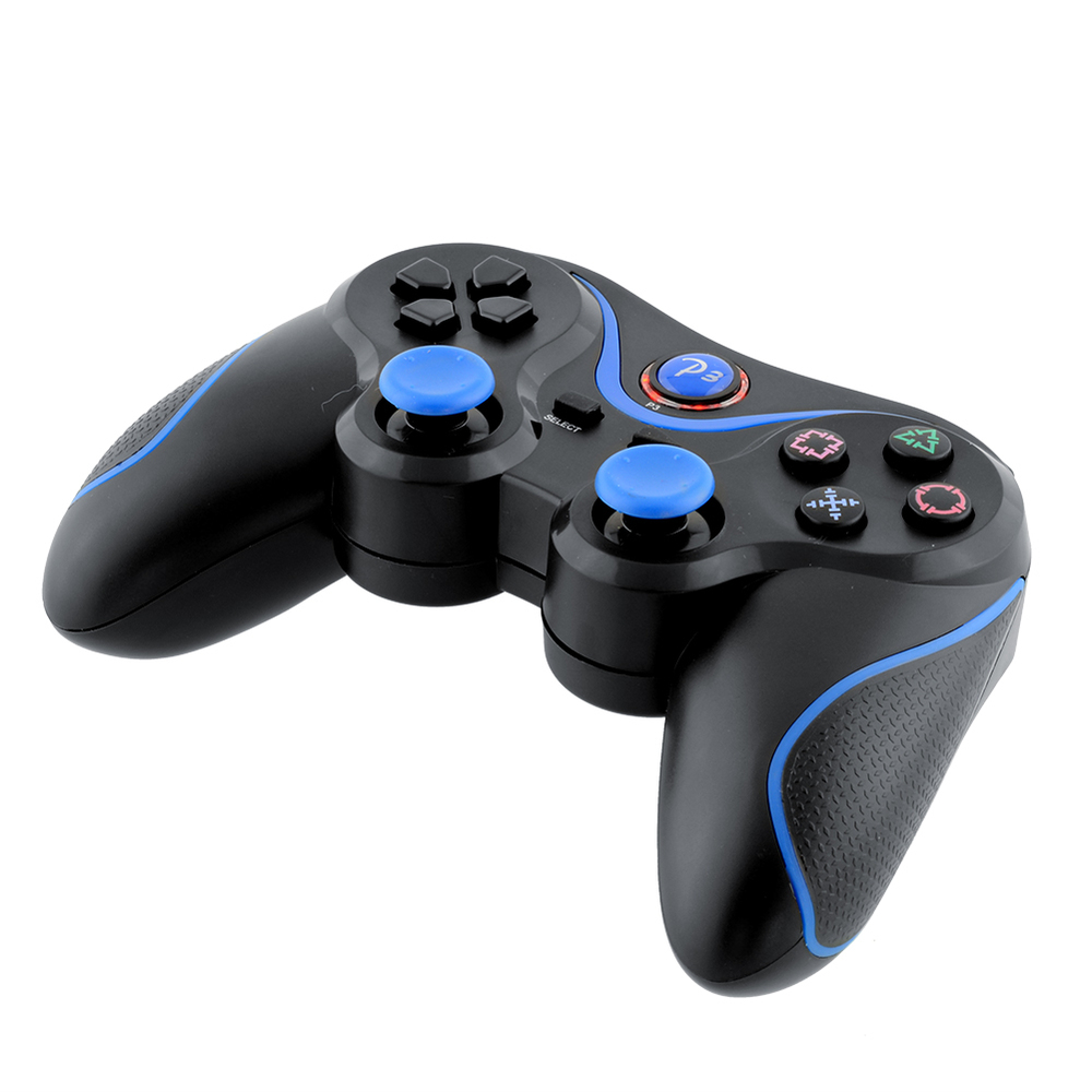 Wireless Game Bluetooth Joystick Controller For Sony PS3 Playstation 3 laptop Doubleshock Black Blue(China (Mainland))