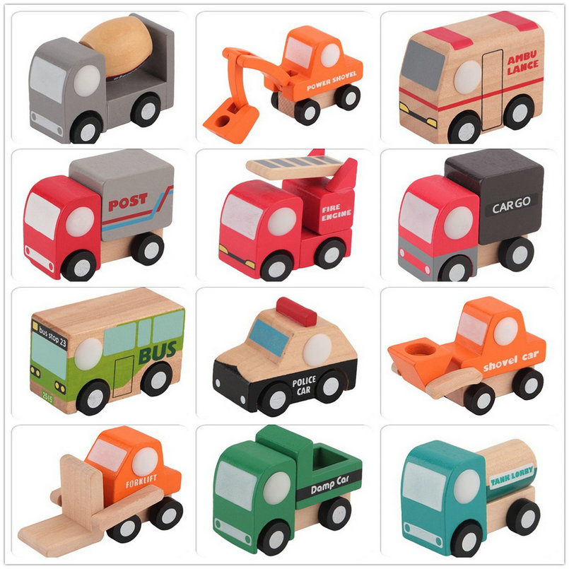 Wholesale1pc Classic Children Lovely Mini Car Engine Model Wooden Toy Gift Education(China (Mainland))